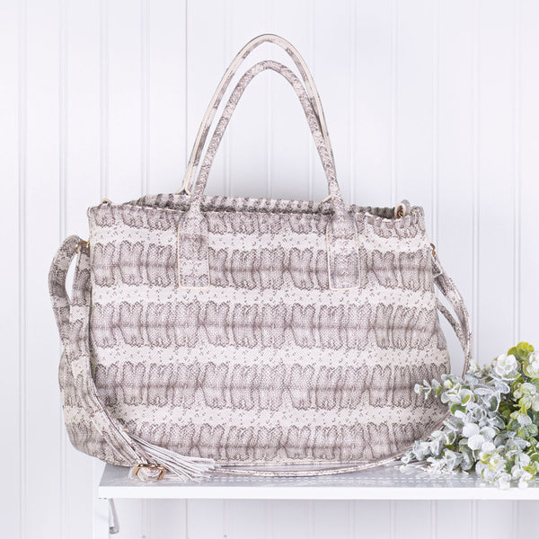 Destination Unknown Tassel Handbag  - Snakeskin