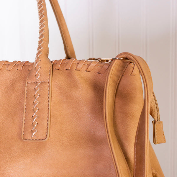 Destination Unknown Tassel Handbag - Camel
