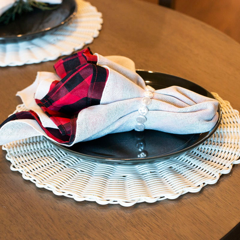 Red Buffalo Check Napkin Set