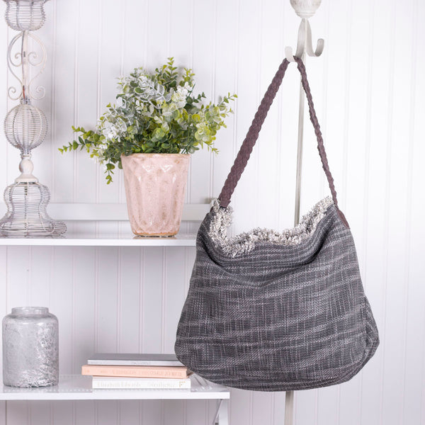 Frayed At The Edges Jute Fabric Handbag