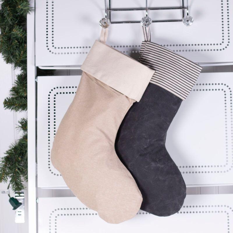 By The Chimney with Care Personalized Christmas Stocking - Charcoal