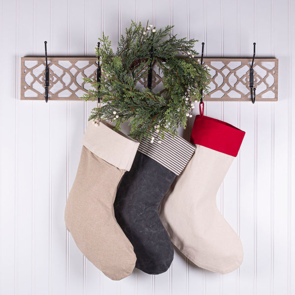 By The Chimney with Care Personalized Christmas Stocking - Red