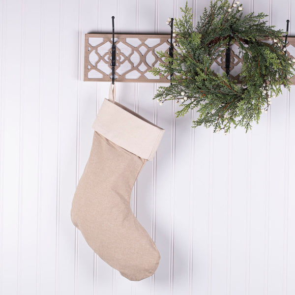 By The Chimney with Care Personalized Christmas Stocking - Natural Jute