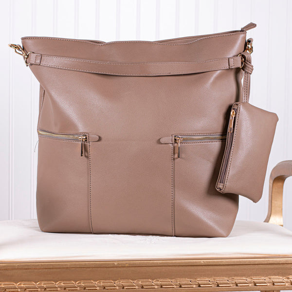 Deeply Cherished Handbag with Pockets - Beige