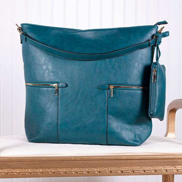 Deeply Cherished Handbag with Pockets - Teal