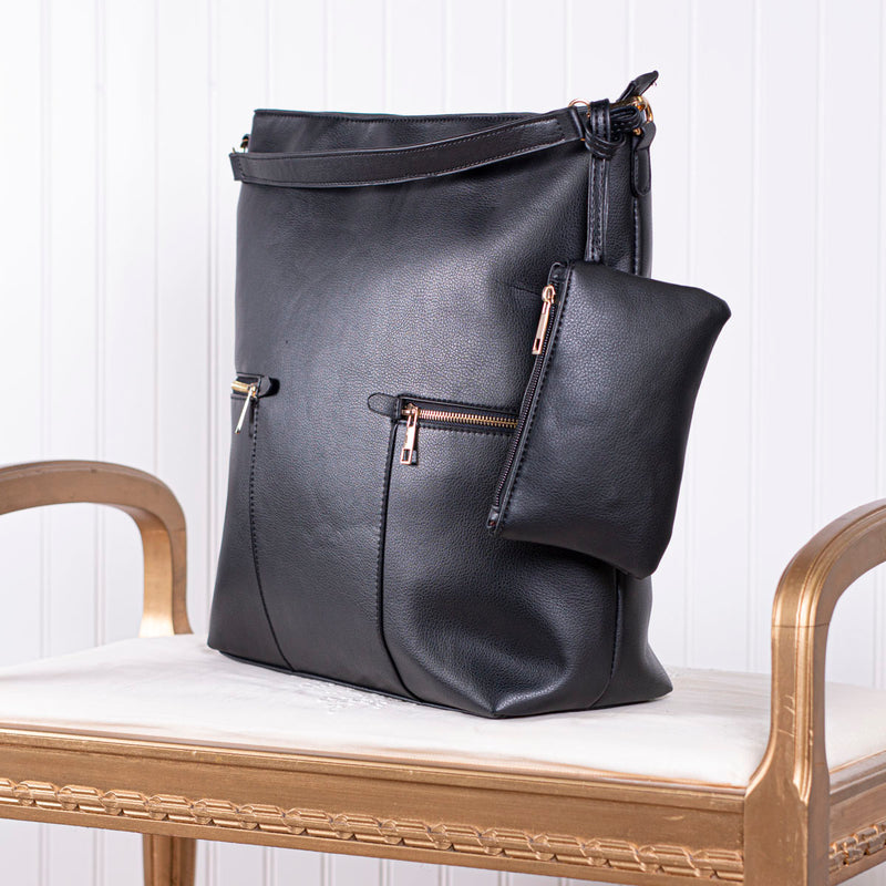 Deeply Cherished Handbag with Pockets - Black
