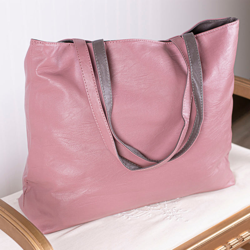 This or That Reversible Tote Bag - Blush/Gray