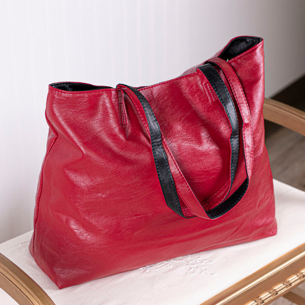 This or That Reversible Tote Bag - Black/Red
