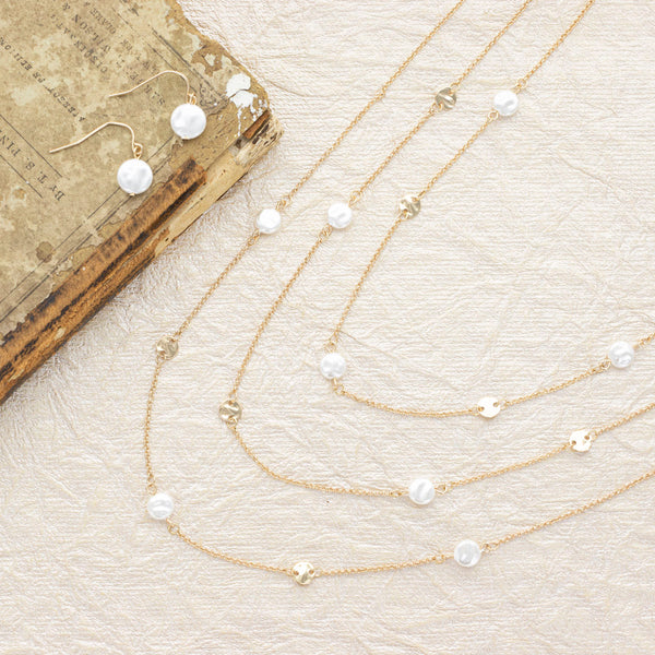 All About The Pearls Necklace and Earring Set
