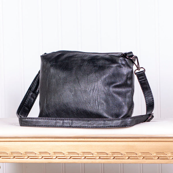 Modern Design Shoulder Sling Bag - Black