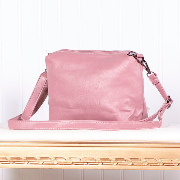 Modern Design Shoulder Sling Bag - Blush