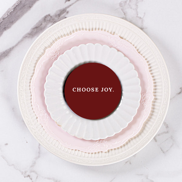 Choose Joy Burgundy - Table Coasters