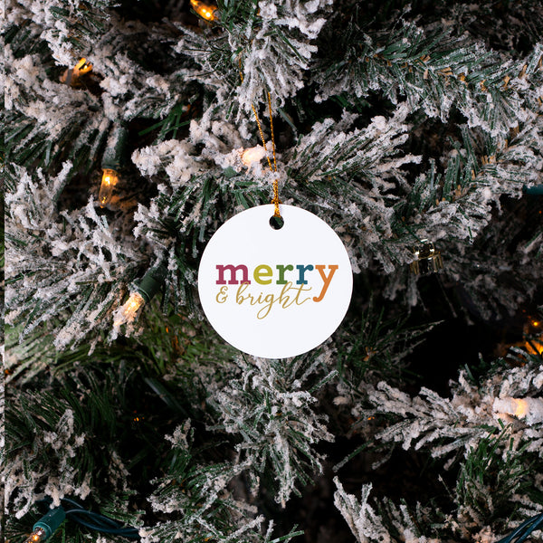Merry and Bright - Christmas Ornament