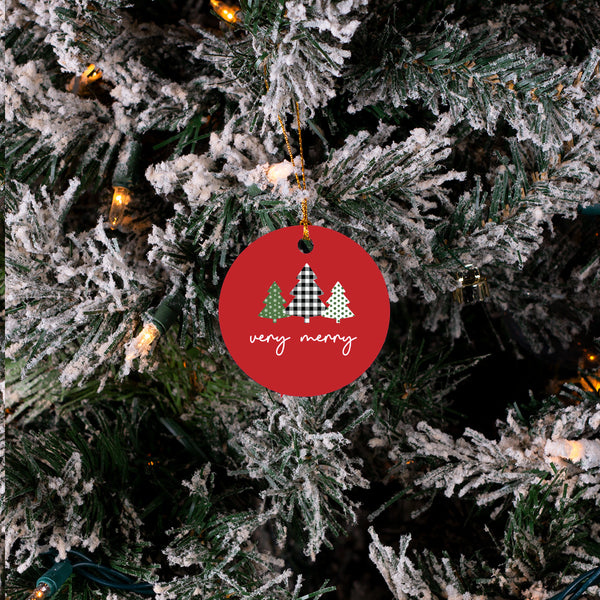 Very Merry Christmas Trees - Christmas Ornament