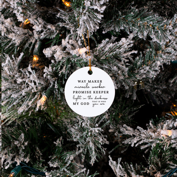Way Maker - Christmas Ornament