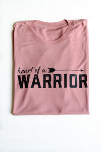 Heart of a Warrior Womens Graphic T-Shirt