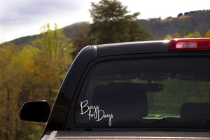 Bays For Days Horse Lover Vinyl Car Decal- Window Vinyl Decal- Trailer Decal