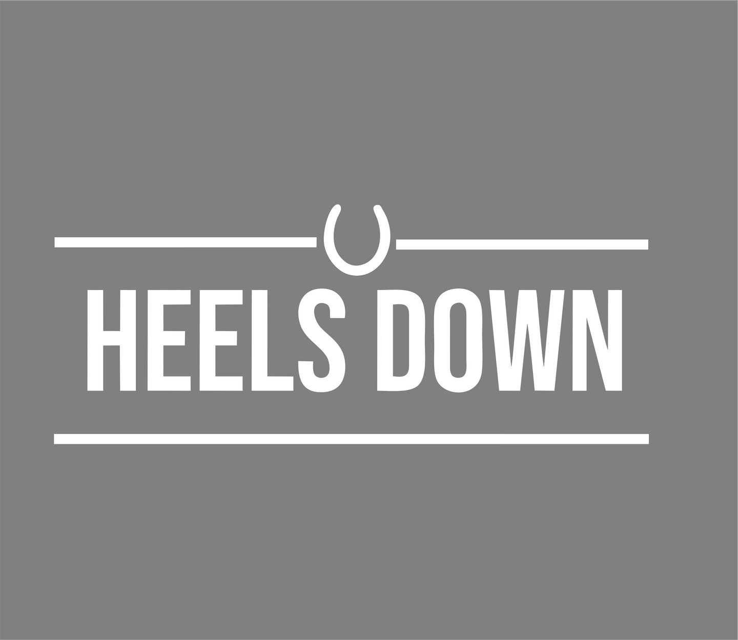 Heels Down Horse Riding Vinyl Car Decal- Window Vinyl Decal- Trailer Decal