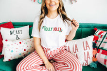 Load image into Gallery viewer, Holly Jolly Holiday Short Sleeve Graphic Tshirt