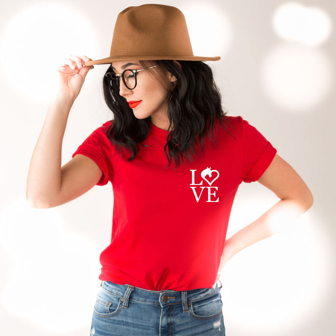 LOVE Equestrian Horse Lover Valentines T-Shirt