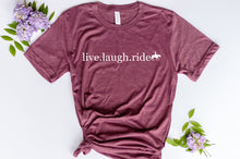 Load image into Gallery viewer, Live. Laugh. Ride Western Tshirt