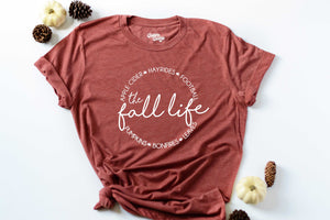 The Fall Life Short Sleeve Graphic Tee-Military Green