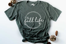 Load image into Gallery viewer, The Fall Life Short Sleeve Graphic Tee-Military Green