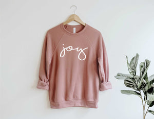 Joy Short Fleece Crew Neck Sweatshirt