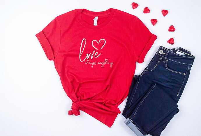 Love Changes Everything Short Sleeve Tshirt