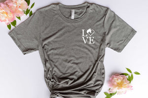 LOVE Horse Heart Graphic Tshirt
