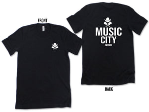 MUSIC CITY GUYS T-SHIRT(FRONT/BACK)- Nashville/Music City #WECARE