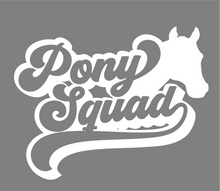 Load image into Gallery viewer, Pony Squad Horse Lovers Vinyl Car Decal- Window Vinyl Decal- Trailer Decal
