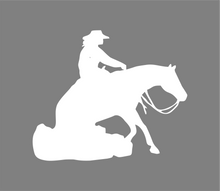 Load image into Gallery viewer, Western Reining Horse Vinyl Car Decal- Window Vinyl Decal- Trailer Decal