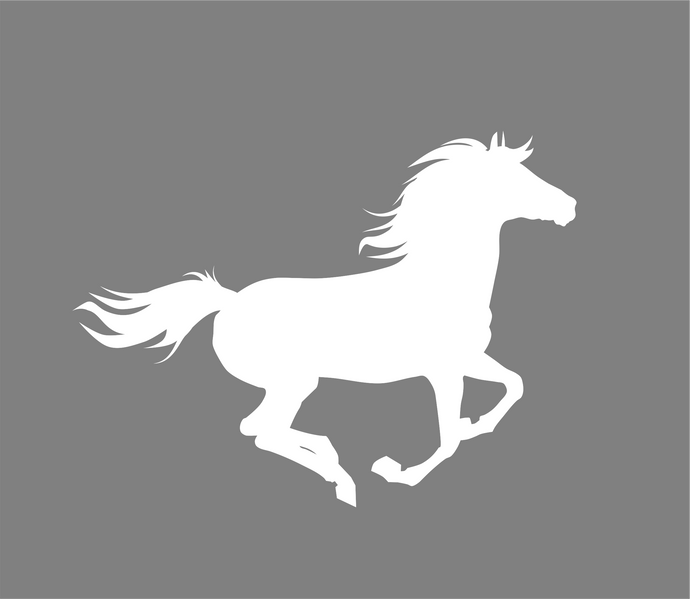 Running Horse Western Decal- Window Vinyl Decal- Trailer Decal