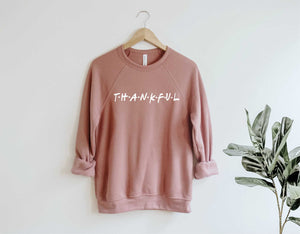 Thankful Holiday Crew Neck Sweatshirt