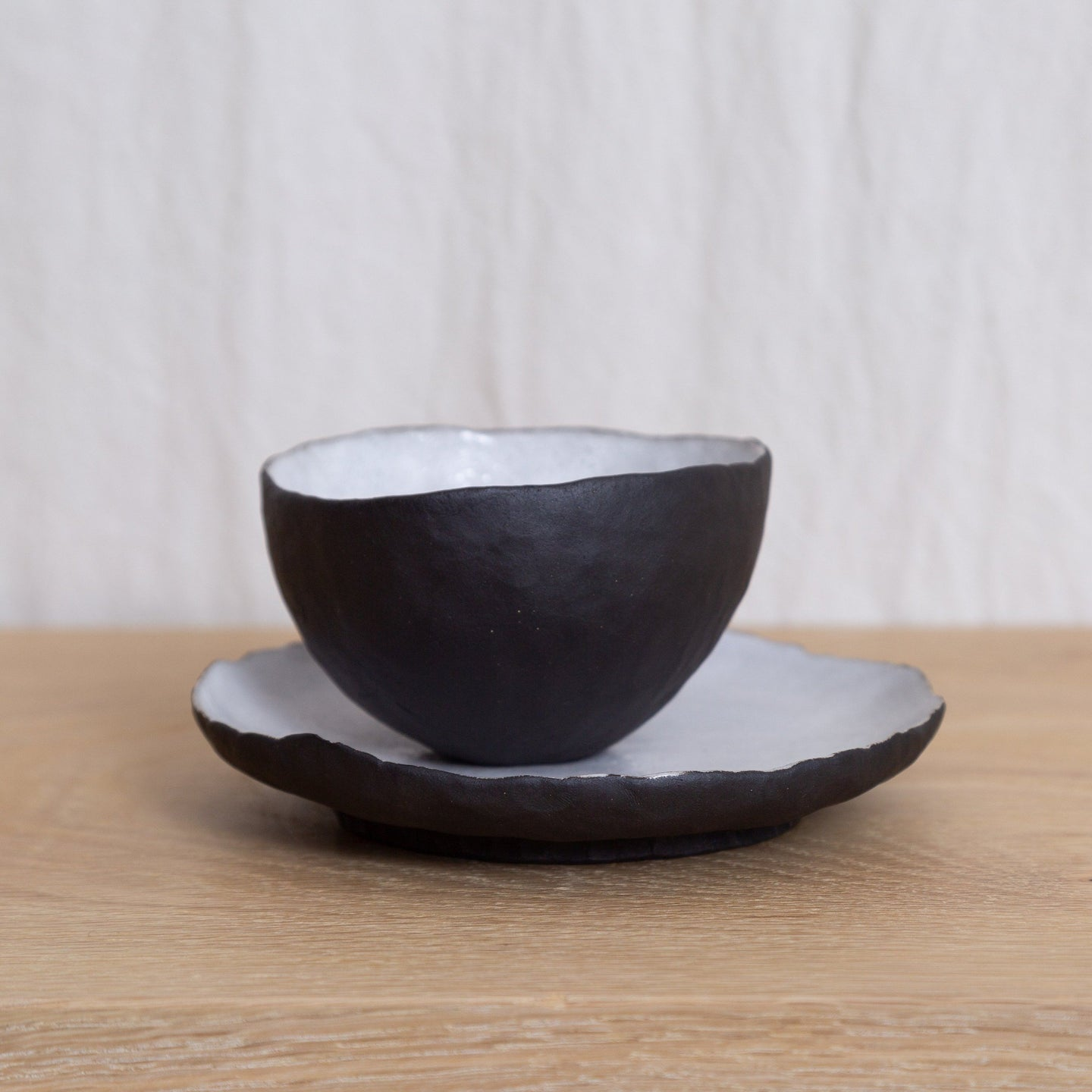 Veva Tea Bowl and Biscuit plate set