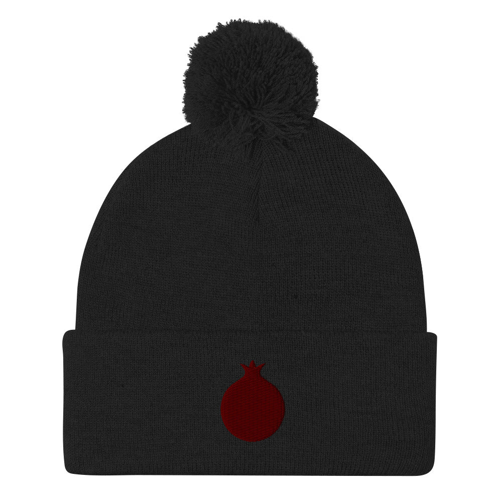 Pomegranate Pom Pom Knit Cap (4 colors)