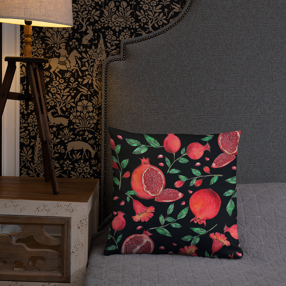 Pomegranate Tree Pillow (stuffing included)