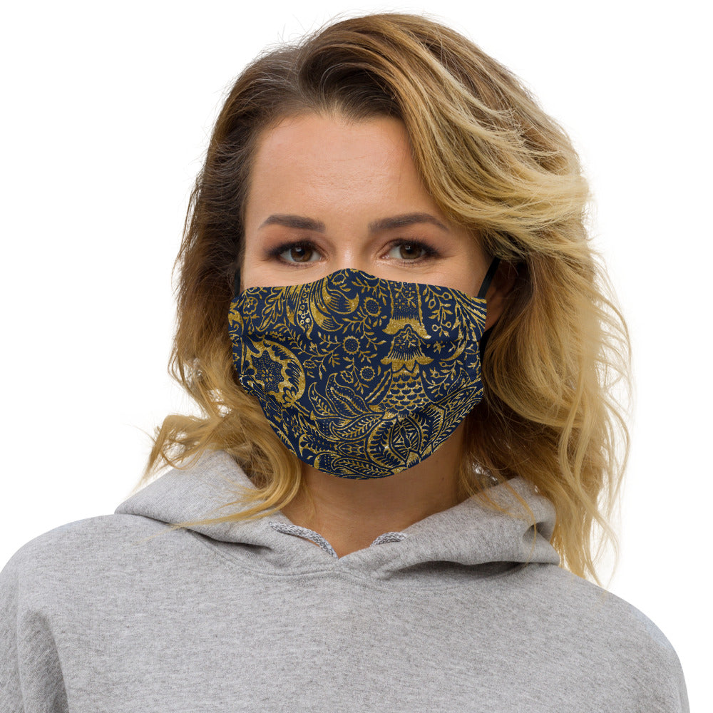 Persian Gold Ornament II Reusable Face Mask