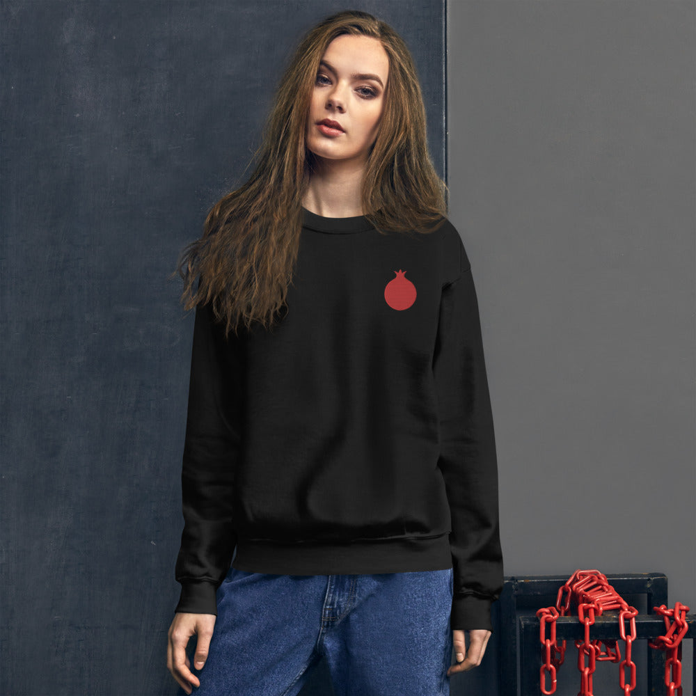Embroidered Pomegranate Unisex Sweatshirt (2 colors)