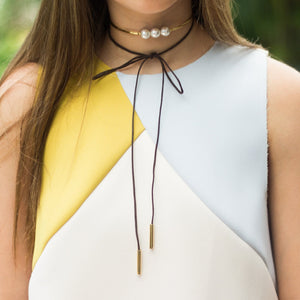 Choker Minimalist Pearl Necklace