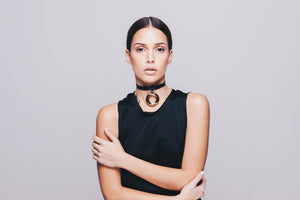 Circular Gold Plated Choker