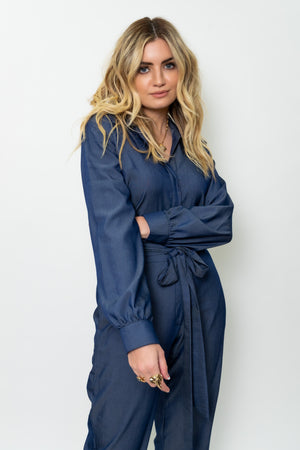 Casual Blue Jumpsuit