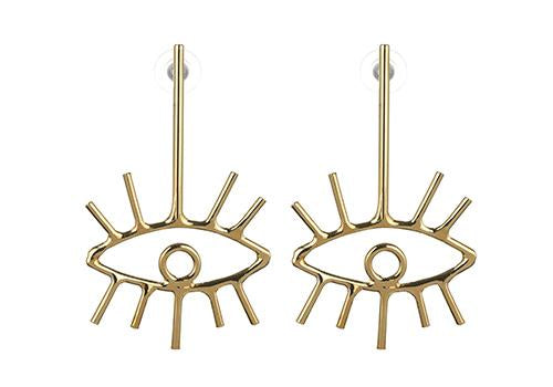 Plated Eye Earring