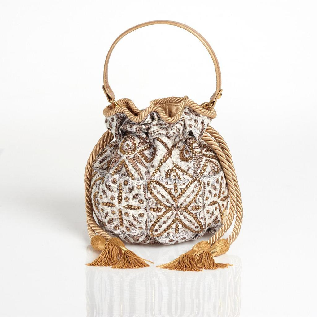 Beige Boucher Bucket Bag
