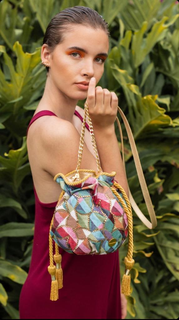 Colorful Abstract Bucket Bag