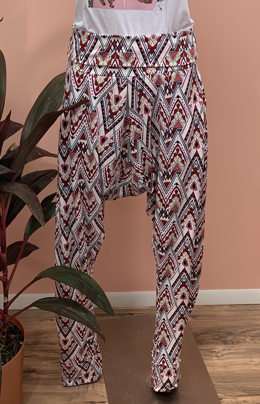 Ethnic Terracotta Aladino Pants