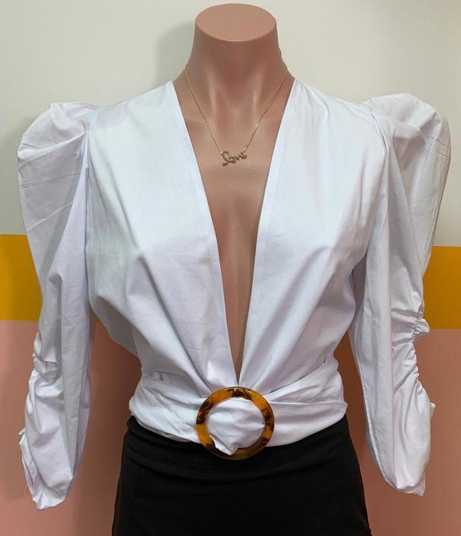 Sexy White Blouse