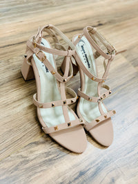 Nude Studded Sandals