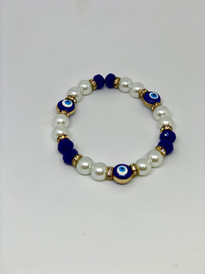 Eyes Pearls Bracelet